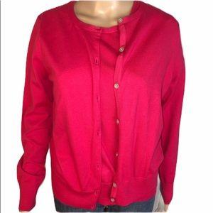 Lands' End Cardigan Sweater Set